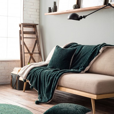 Pine Green Κουβερτάκι με γούνα  130X170cm Softy 478