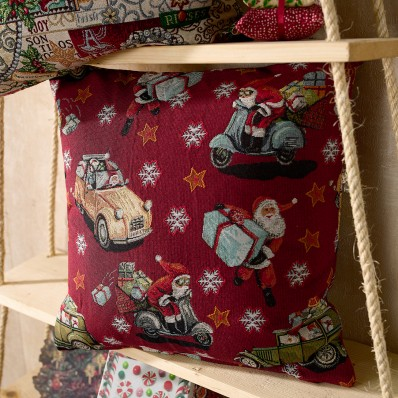 Μαξιλαροθήκη υφαντή Christmas 43X43cm