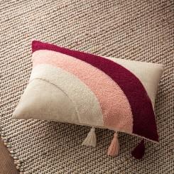 Cherry Pink Ecru Μαξιλαροθήκη  30x45cm Iris 242