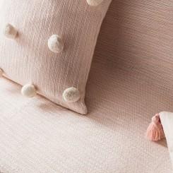 Ροζ Διακοσμητικό Ριχτάρι  135x180cm 555 Poms